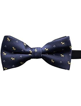 NUOLUX Hombre Ajustable Lazo Corbatas, bodas y fiestas Essentials (Azul) azul