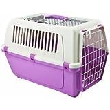 Rosewood 02543 Vision Free 55 Hunde-Transportbox aus Kunststoff, Zuckerwatte