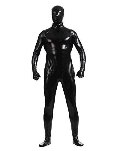 Gladiolus Herren Second Skin Kostüm Ganzkörperanzug Anzug Suit Catsuit Anzug Halloween Schwarz XXXL