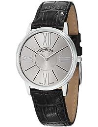 Stührling Original 533.02 - Reloj analógico para hombre, correa de cuero, color negro