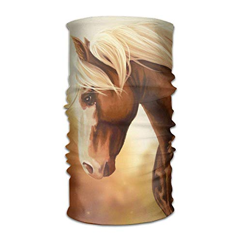 FAFANIQ Handsome Horse Unisex Breathable Headband Bandanas Headwear Balaclava Neck Gaiter Magic Scarf UV Protection for Daily Activities