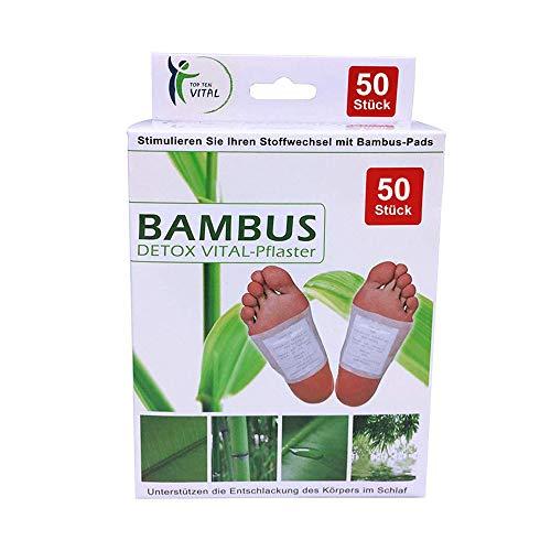 Top Ten Vital Bambus Detox Fuß-Pad zur Entgiftung 50 Stück -