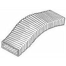 Kair 206mm x 62mm rectangular flexible de PVC–longitud 3m de manguera Flexi Pvc Conducto de Ventilación–sys-204–ducr3m/206/62