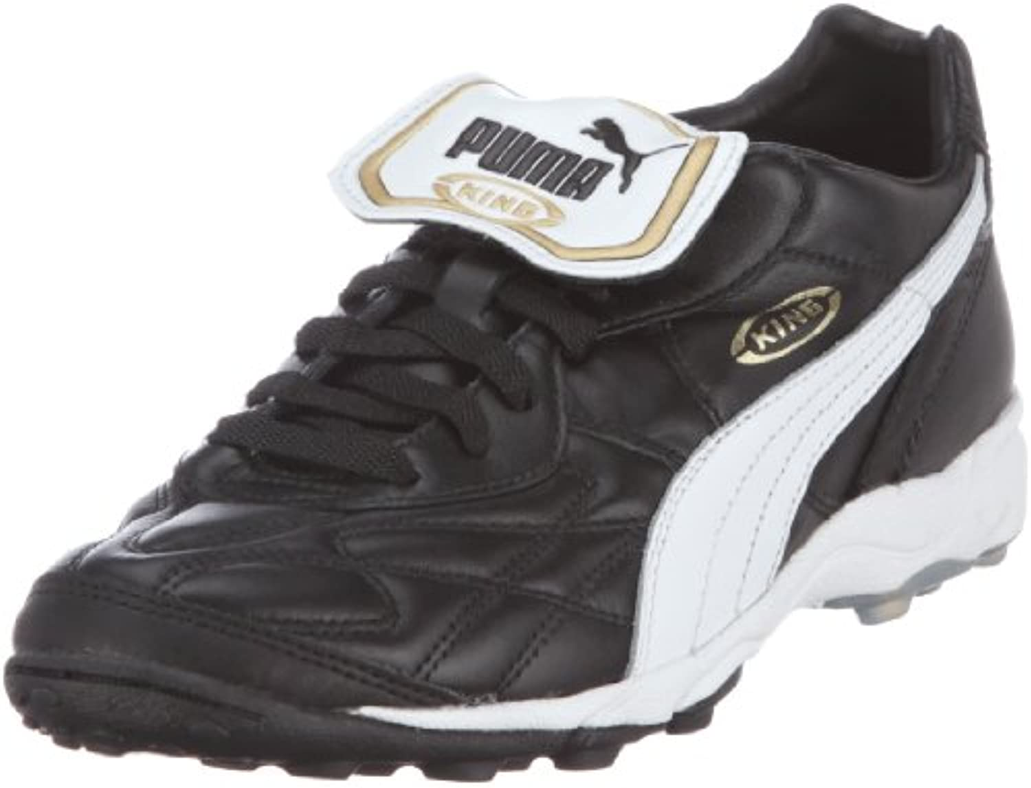 Puma King Allround TT   black white team gold  Größe:6