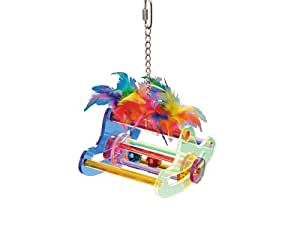 Nobby Acrylic Toy and Swing with Feathers for Parrot, 15 x 12 x 9 cm