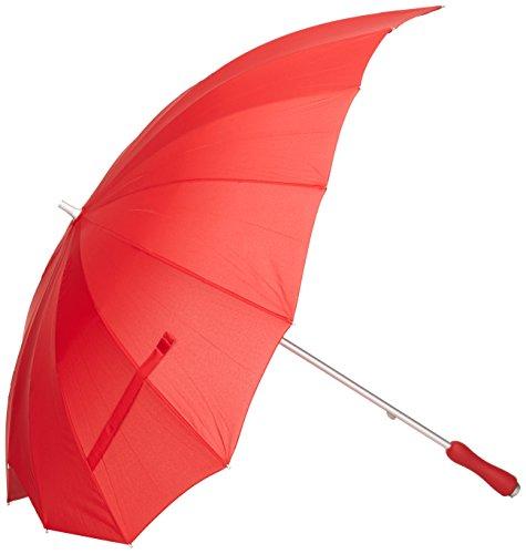 Paraguas bastón en forma de corazón, rojo, Rob McAlister