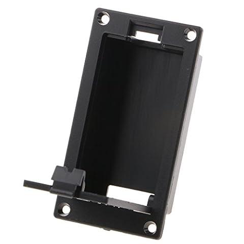 Gazechimp 1pcs 9V Batterie Kasten für Gitarre Bass Tonabnehmer Schwarz