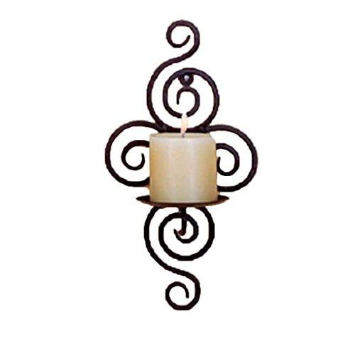 meisijia Eisen-Kerze-Halter-Wandleuchter-hängende Wand-Kunst-Leuchter für Dekoration-Hochzeiten - Kerze-halter-wand-dekoration