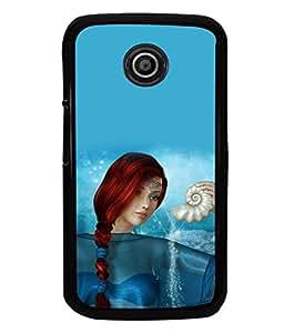 printtech Graphic Girl Underwater Back Case Cover for Motorola Moto E XT1021::Motorola Moto E (1st Gen)