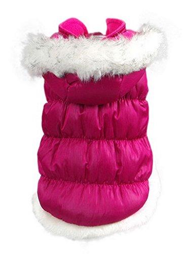 La Vogue-Rosa Cappotto Caldo Imbottito Dog Coat Abbigliamento Pets Cane Vestiti Invernale Costume-XS