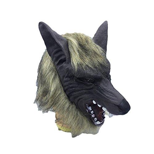 Latex Maske Horror Masquerade Tier Kopf Masken für Cosplay Partei-Kostüm-Abendkleid, Fasching, Karneval & Halloween ()