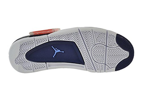 Nike Herren Air Jordan 4 Retro Ls Basketballschuhe, Schwarz white/legend blue-mdnght navy