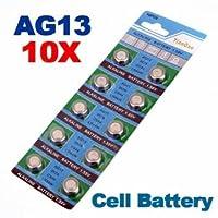 [Envio GRATIS] 10 x AG13 LR44 G13-A D303 L1154 L1154F alcalina pila de botón // 10 x AG13 LR44 G13-A D303 L1154 L1154F Alkaline Button Cell Battery marca BMLtd