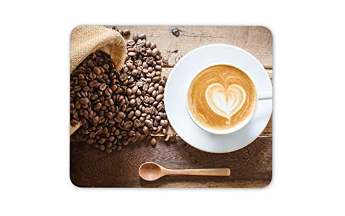 Kaffeebohnen Tasse Latte Mousepad Pad - Lifestyle Cafe Computer-Geschenk # 14533