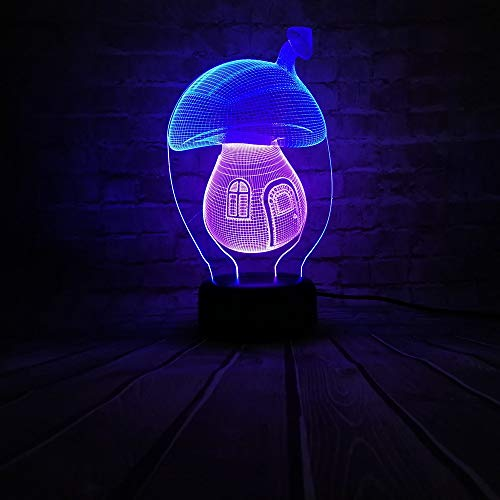 chtlicht Mix Farbe Kind Spielzeug Schlafzimmer Atmosphäre Lampe Familie Dekor Urlaub Weihnachten Halloween Geschenk, Touch und Fernbedienung ()