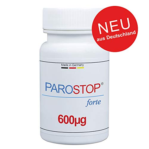 ParoStop forte - Die weltweit erste Parodontitis Kur - Made in Germany - Hochdosierter Dental 8 Komplex gegen Parodontitis und Zahnfleischentzündungen - Von Zahnärzten entwickelt AKTIV 30 TAGE KUR