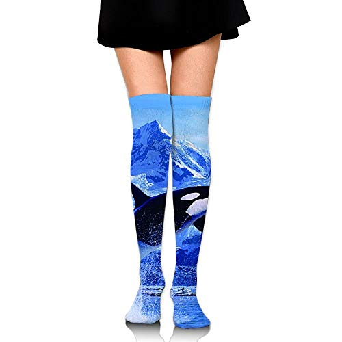 CVDFVFGB Unisex Killer Whale Casual Crew Top Socks Knee Long High Socks