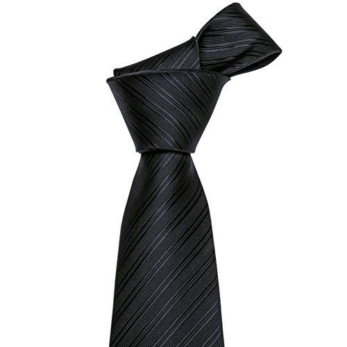 LLTYTE N-5089 Business Casual Krawatte Polyester Kleid Mens Silk Plain Black Tie Schwarze Krawatte Plain Silk Tie Schwarze Seidenkrawatte Produkt Geeignet für formelle Anlässe Geschäftstreffen Plain Black Tie