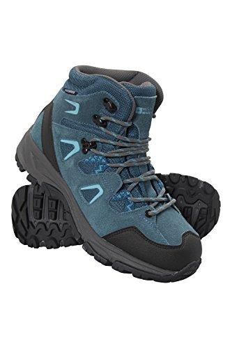 Mountain Warehouse Astronomy Wasserdichte Mittelhohe Stiefel für Damen Blau 39 EU (Wildleder Damen-ski-stiefel)