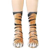 Unisex Adult 3D Print Animal Foot Hoof Socks