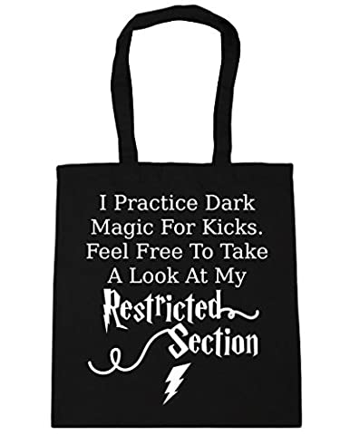 HippoWarehouse I Practice Dark Magic For Kicks. Feel Free To Take A Look At My Restricted Section Tote Shopping Gym Beach Bag 42cm x38cm, 10