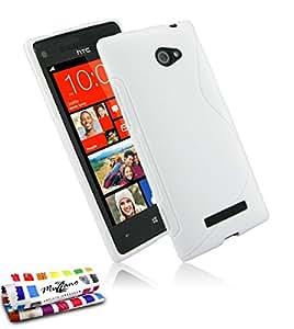 Coque Souple Ultra-Slim HTC 8X [Le S Premium] [Blanc] de MUZZANO + STYLET et CHIFFON MUZZANO® OFFERTS - La Protection Antichoc ULTIME, ELEGANTE ET DURABLE pour votre HTC 8X