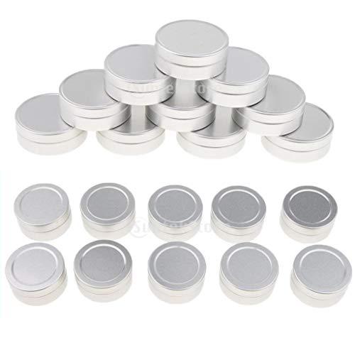 B Blesiya Pot 20pcs 10ml Vide Rond en Aluminium avec Couvercle Cosmetic Container Rangement pour Crèmes Stockage Onguents Toners