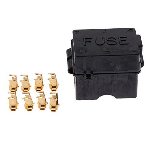 Sharplace 4 Weisen-Blade-Sicherungs-Halter-Kasten Ersatz Auto-Sicherungs-Block-Relais-Halter für Garage, Autowerkstatt (Block Fuse Terminal)