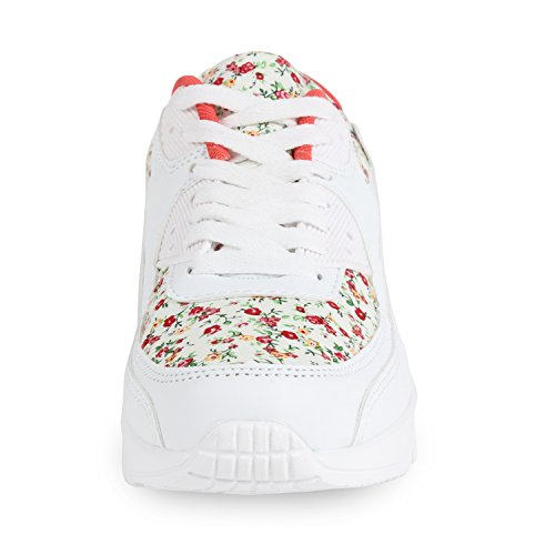 Boot Paradise Trendy Scarpe Unisex Donna Uomo Bambini Scarpe Sportive Metallizzate Scarpe Da Ginnastica In Camoscio Sneaker Fiore Low Colorful Glitter Pattern Lacci Flandell Bianco Bianco