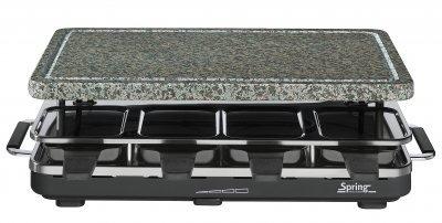 Spring Raclette 8 Granit-Stein Schwarz