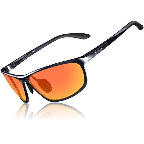 KITHDIA Herren Sportbrille Polarisiert Sonnenbrille Treiber Glasses Sonnenbrillen Al-Mg Metallrahme Ultra leicht #2179