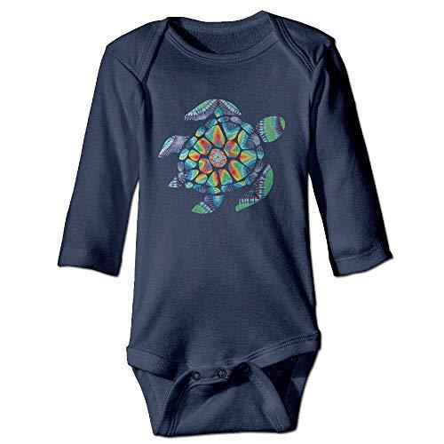 WBinHua Bodys et Combinaisons,Bertha Tie Dye Turtle Baby Boys Girls Long Sleeve Onesies Bodysuits