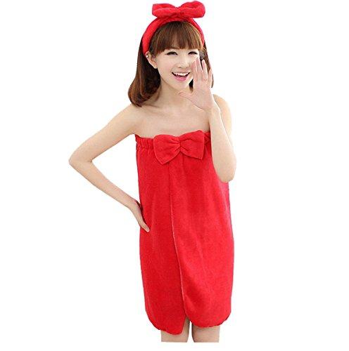 Damen Trägerlosen Badetuch Bademantel mit (Kostüme Mädchen Halloween Zwillings)