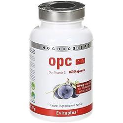 OPC DAILY Traubenkernextrakt – 160 OPC Kapseln 700 mg reines OPC pro Tag
