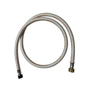 Alice's Garden - Flexible gaz NF, tuyau à embouts mécaniques - élastomère renforcé, G1/2 - M20x1,5 , Validité 10 ans, joints inclus, propane ou butane, 1,5m