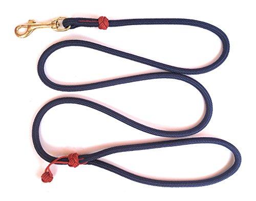 wertige MeRuBu Seil-Leine/Tauleine/Führleine mit Messingkarabiner und Klabautermann in Rot, Grün, Schwarz, Orange, Blau Oder Lila (1,5 m Lang; 8 mm) (Marineblau) ()