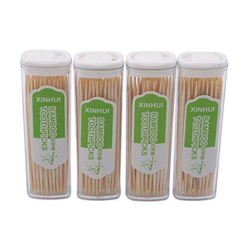 Beiswin 280 stücke Bambus Zahnstocher Set Tragbare Eco Natürliche Einweg Glatte Zahnstocher für Küche Wohnaccessoire