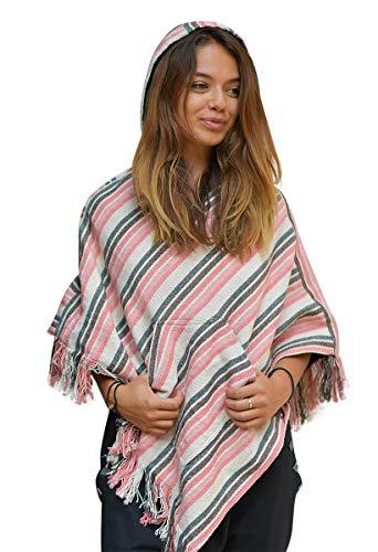 poncho femme coton