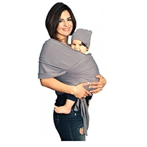 YogaBellies® Baby Sling Wrap UK Made Safety Certified | Super Soft 100% Organic Cotton Baby Wrap | Baby Carrier Newborn and Infants | Free Hat, Bag and EBook | Lifetime Guarantee | Ideal Gift   1