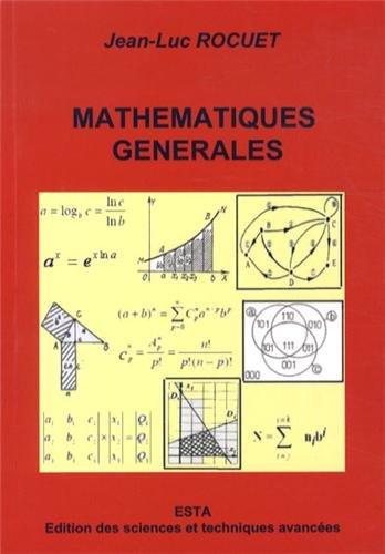 Mathématiques générales : Eléments d'enseignement supérieur : filières sciences appliquées et sciences de l'ingénieur
