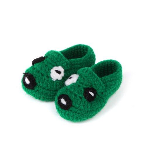 Smile YKK Bébé Chaussure Tricot Chaud Souple Pantoufles Pour Enfant 0-12 mois A la main Gris Q