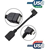 ELTD® Micro USB Host OTG Câble - Micro USB B/Male to USB2.0 A/Female OTG Host Câble for Samsung Galaxy Note 10.1 2014 / Asus Me372CG / Google Nexus 7 2013 / LG G Pad 8.3