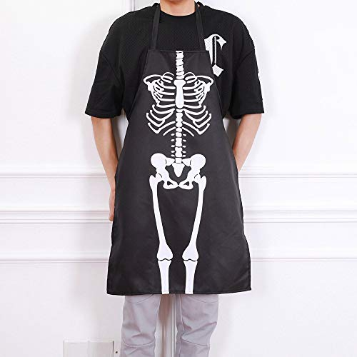 TAOtTAO 1 STÜCKE Küche Cosplay Horror Chef Halloween Skelett Schürze Kostüm Party ()