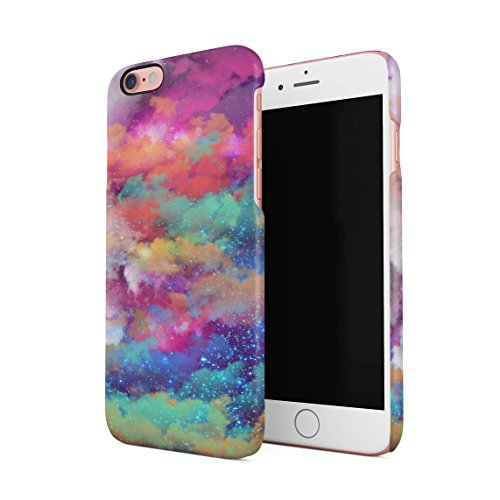 Colourful Space Dust Pattern Dünne Rückschale aus Hartplastik für iPhone 6 & iPhone 6s Handy Hülle Schutzhülle Slim Fit Case - I Case 6 Phone Pot