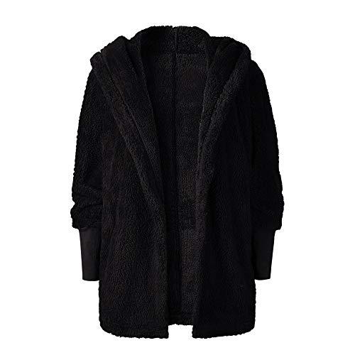 FeiBeauty Ladies 'Herbst/Winter Sexy Langarm-Kapuzen-Cardigan Plüsch Jacke Top