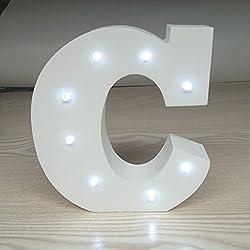 Letras luminosas redondeadas para decoración de bodas. s, al aire libre, barras, cafés adornados, Tamaño: Approx. 15cm * 14cm * 3cm