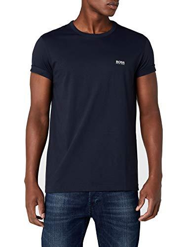 b30ba79d0a2 Hugo Boss Green Camiseta de cuello redondo Gris Claro, Azul (Navy 410),