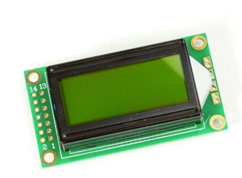 802 8x2Zeichen LCD Display Modul gelbes BL HD44780-Komp für Arduino Raspberry Pi (16-chip Speicher-modul,)