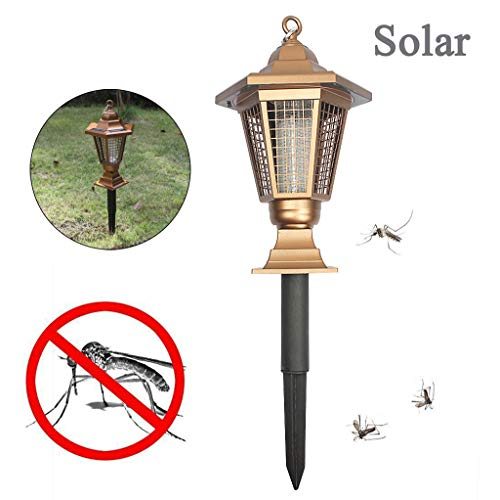 Solar Anti-Moskito Lampe,Moskito Killer,bug zapper,Insektenvernichter,Mückenschutz, Mückenfalle,Moskito Lampe,Insektenvernichter Elektrisch,Moskitolampe,Insektenvernichter,Fluginsektenvernichter