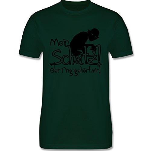 JGA Junggesellenabschied - Mein Schatz der Ring gehört mir - Herren Premium T-Shirt Dunkelgrün